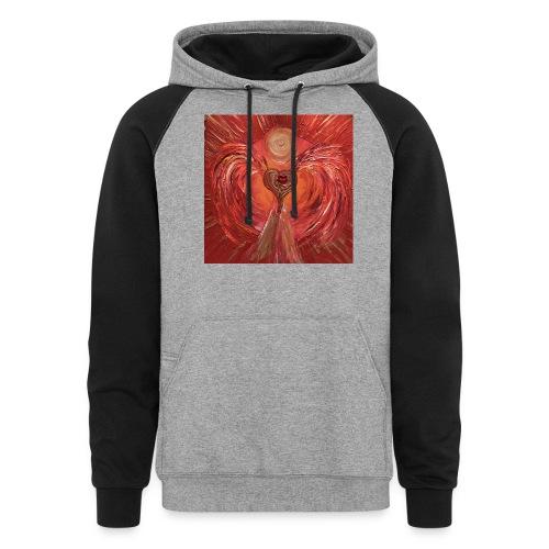 Heartangel of self-worthiness - Colorblock Hoodie