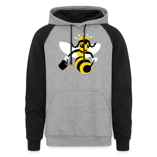 Queen Bee - Unisex Colorblock Hoodie