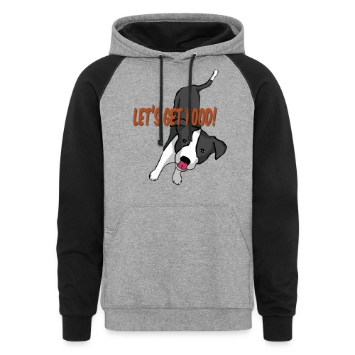 Foodie Dog Border Collie - Colorblock Hoodie