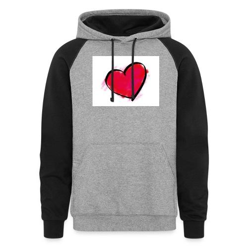 heart 192957 960 720 - Colorblock Hoodie