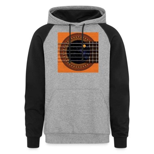 Cool Guitar Soundhole - Unisex Colorblock Hoodie