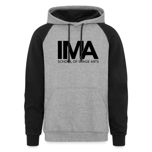 Copy of School of Image Arts Logos Black png - Colorblock Hoodie