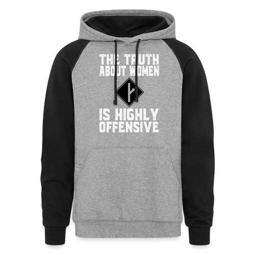 the truth about women white version - Colorblock Hoodie