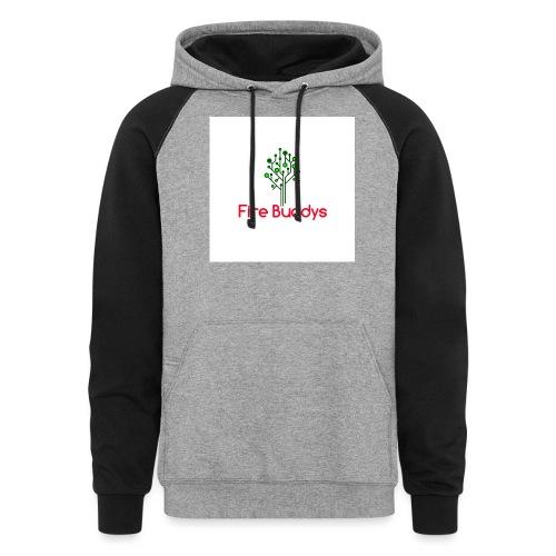 Fire Buddys Website Logo White Tee-shirt eco - Colorblock Hoodie