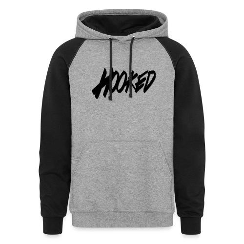 Hooked black logo - Colorblock Hoodie