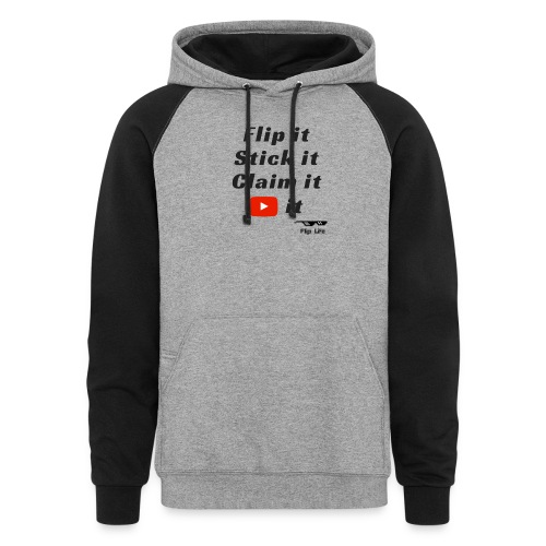 Flip it t-shirt black letting youtube logo - Colorblock Hoodie