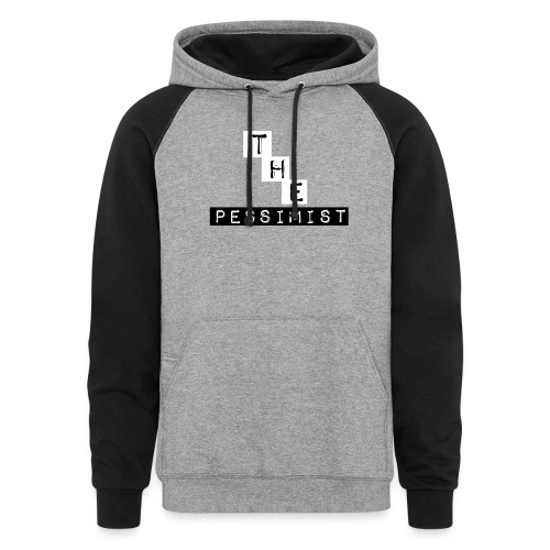 The Pessimist Abstract Design - Unisex Colorblock Hoodie