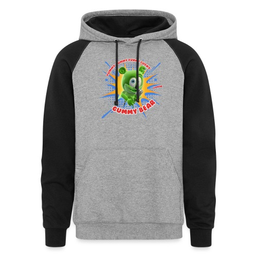 Funny Lucky Gummy Bear - Colorblock Hoodie