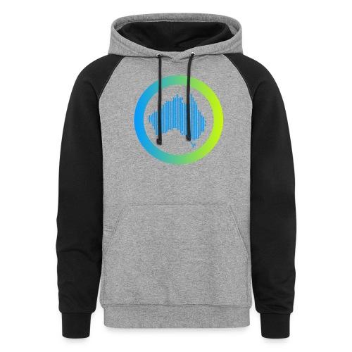 Gradient Symbol Only - Unisex Colorblock Hoodie