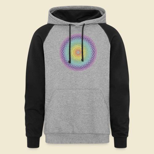 Torus Yantra Hypnotic Eye rainbow - Unisex Colorblock Hoodie