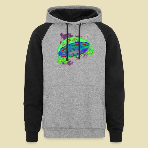 Ongher's UFO Flying Saucer - Colorblock Hoodie