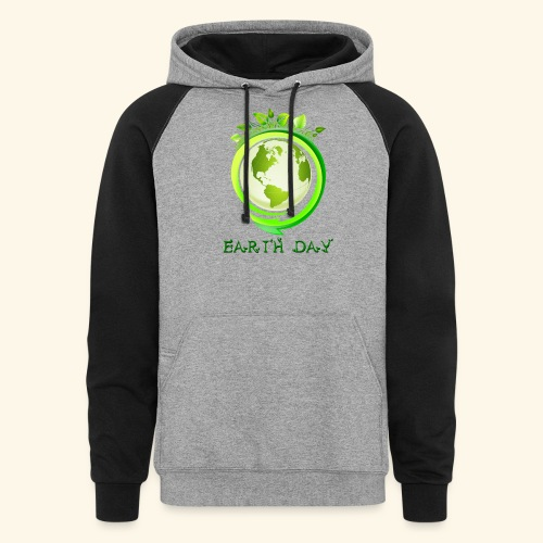Happy Earth day - 2 - Colorblock Hoodie