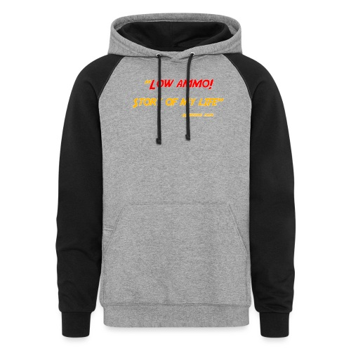 Logoed back with low ammo front - Colorblock Hoodie