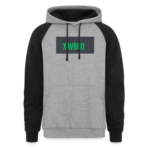 xavbro green logo - Colorblock Hoodie