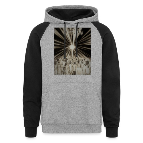 Black_and_White_Vision2 - Colorblock Hoodie