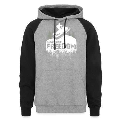 Snowmobile Freedom - Colorblock Hoodie