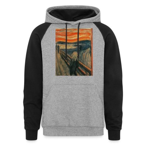 The Scream (Textured) by Edvard Munch - Colorblock Hoodie