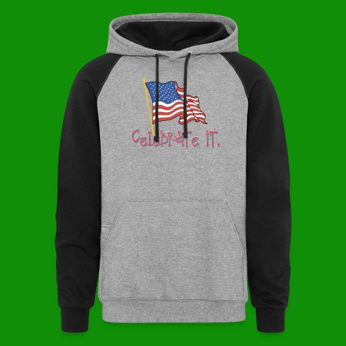 USA Celebrate It - Unisex Colorblock Hoodie