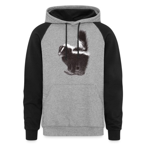 Cool cute funny Skunk - Colorblock Hoodie