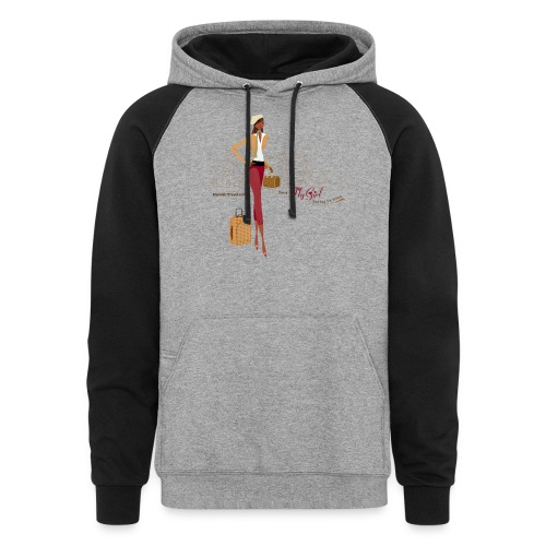 BrowOutfitPNG png - Unisex Colorblock Hoodie