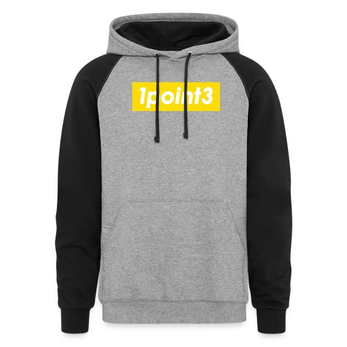 1point3 yellow - Unisex Colorblock Hoodie
