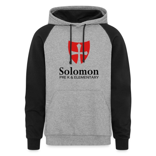 School Tall Two Color - Unisex Colorblock Hoodie