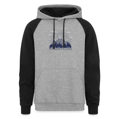 Adventure Mountains T-shirts and Products - Colorblock Hoodie
