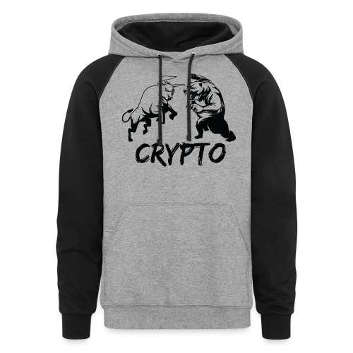 CryptoBattle Black - Colorblock Hoodie