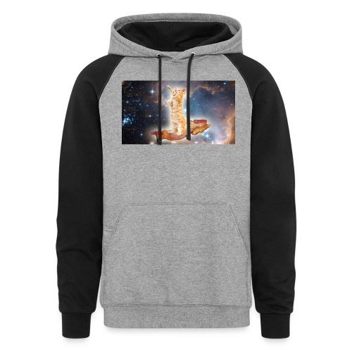 Cat on bacon. - Colorblock Hoodie