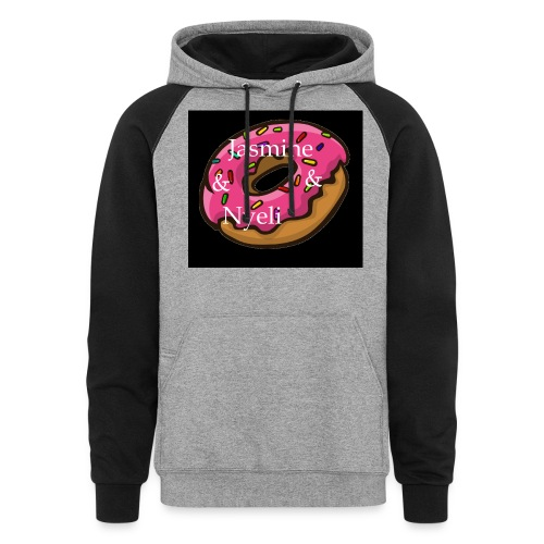 Black Donut W/ Our Channel Name - Colorblock Hoodie