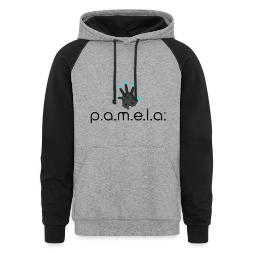 P.A.M.E.L.A. Logo Black - Unisex Colorblock Hoodie