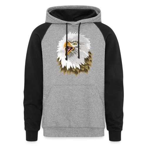 Big, Bold Eagle - Colorblock Hoodie