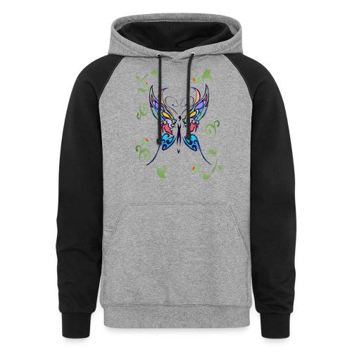 Bright Butterfly - Colorblock Hoodie