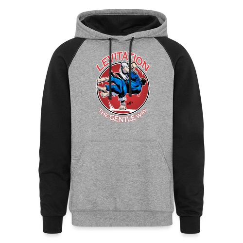 Judo Levitation for dark shirt - Unisex Colorblock Hoodie