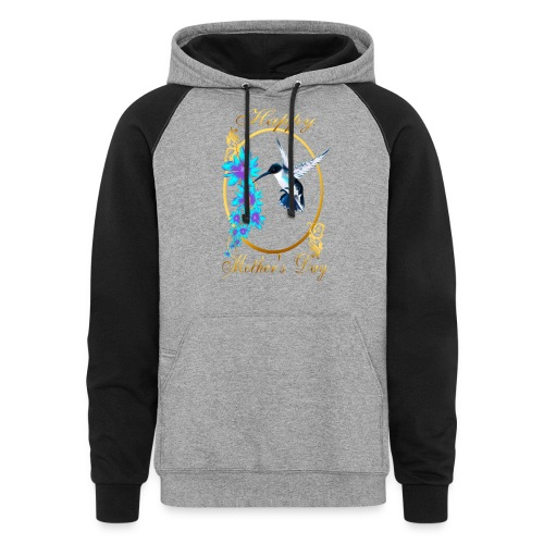 Mother's Day with humming birds - Colorblock Hoodie