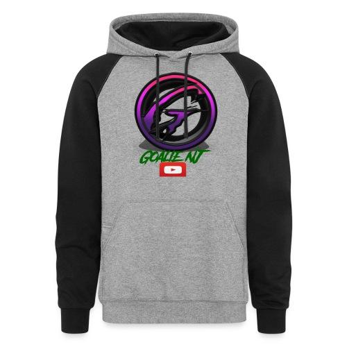 goalie nj logo - Colorblock Hoodie
