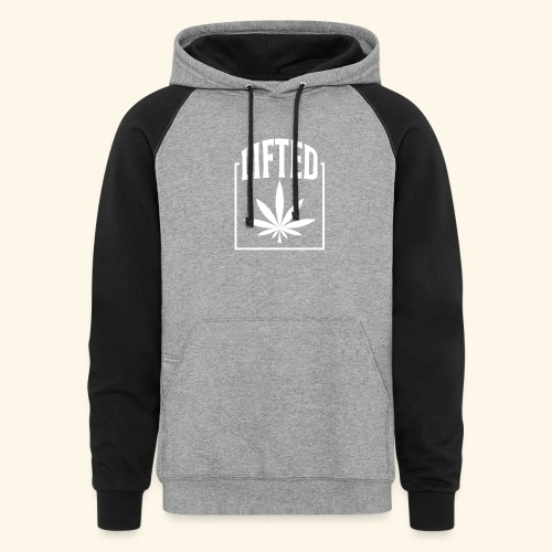 LIFTED T-SHIRT FOR MEN AND WOMEN - CANNABISLEAF - Colorblock Hoodie