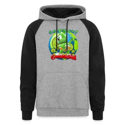 Gummibär Go Green Earth Day Earth - Colorblock Hoodie