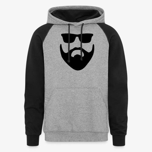 Beard & Glasses - Unisex Colorblock Hoodie