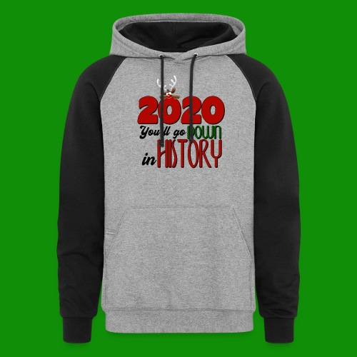 2020 You'll Go Down in History - Unisex Colorblock Hoodie