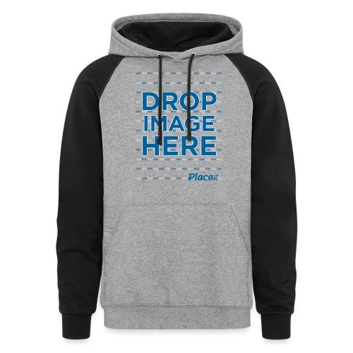 DROP IMAGE HERE - Placeit Design - Unisex Colorblock Hoodie