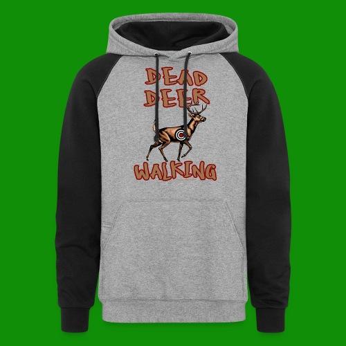 Dead Deer Walking - Unisex Colorblock Hoodie