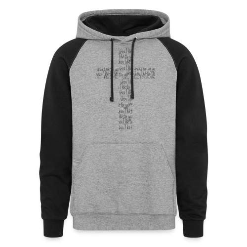 Jesus, I live for you! - Colorblock Hoodie
