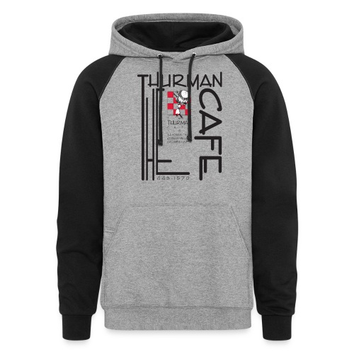 Thurman Cafe Traditional Logo - Unisex Colorblock Hoodie