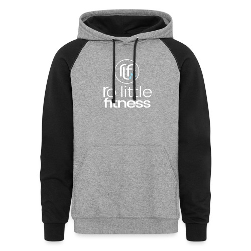 Ro Little Fitness - outline logo - Colorblock Hoodie