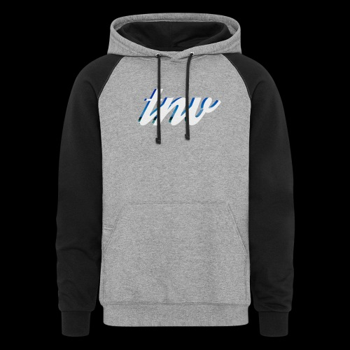 TNV WHITE DESIGN CLSSC png - Colorblock Hoodie