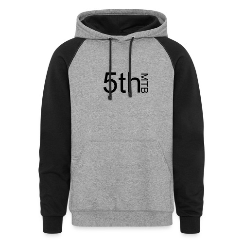 Black original logo - Colorblock Hoodie