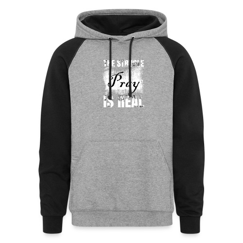 The struggle is real - Colorblock Hoodie