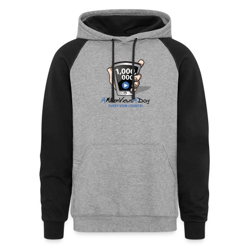 AMillionViewsADay - every view counts! - Colorblock Hoodie