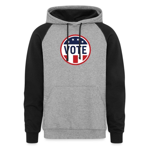Vote Red White and Blue Stars and Stripes - Unisex Colorblock Hoodie